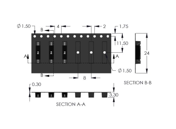 R4 Reed Sensor Tape Drawing