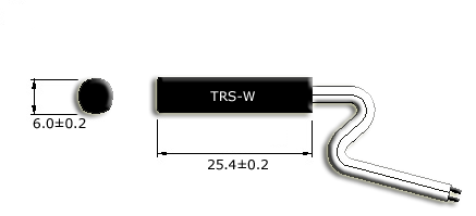 Molded NC Thermal Reed Sensor Drawing