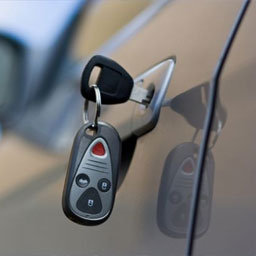 Reed sensors in Door sensors for cars with electronic keys